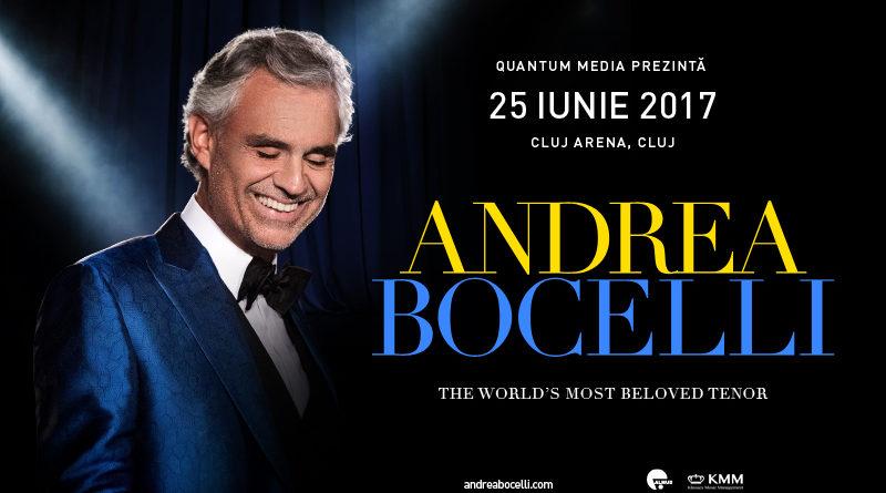 Andrea Bocelli va concerta în Transilvania