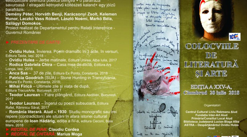 Sâmbătă, la Ciumbrud, Colocviile de Literatură și Arte,Ediția a XXV-a