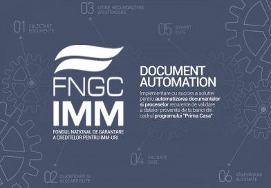 """Document Automation"" de la Zipper a fost implementată cu succes la FNGCIMM"