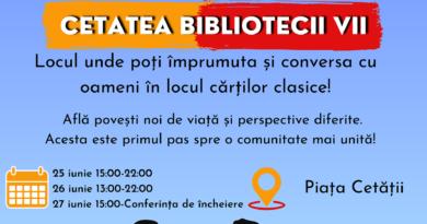 Cetatea Bibliotecii Vii are un nou capitol! În 25 şi 26 iunie, invitaţie la dialog